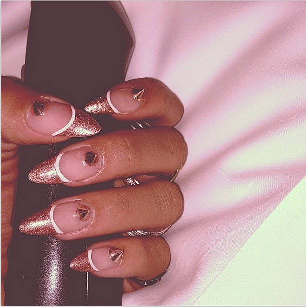 Rihanna's nail philosophy: go big or go home.  Source: Instagram user badgirlriri