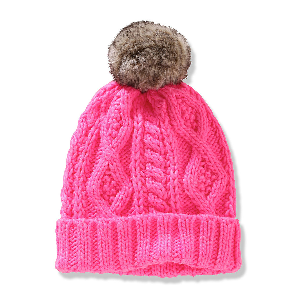 We don't know what we love more about this Joe Fresh knit hat ($7, originally $10): its adorable pom-pom or how pink it is!