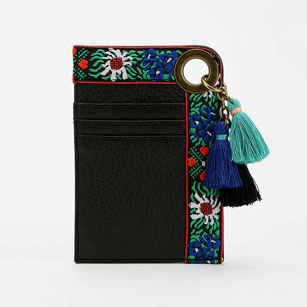 Never lose your subway pass again, courtesy of Ecote's tasseled cardholder ($10).