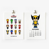 Cute Superhero Calendar