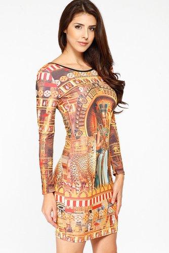 Egyptian Goddess Print Dress @ Cicihot sexy dresses,sexy dress,prom dress,summer dress,spring dress,prom gowns,teens dresses,sex