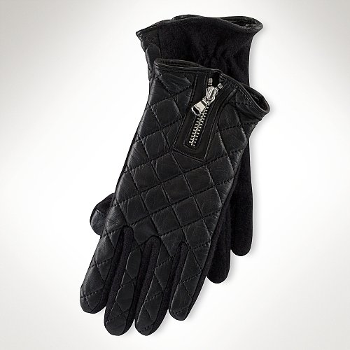 Ralph Lauren Quilted-Leather Touch Glove