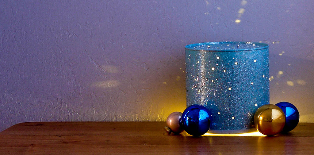 Get Festive With an Upcycled Tin-Can Lamp
