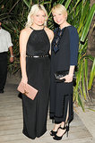 Kate Young and Michelle Williams at the Louis Vuitton Miami dinner.