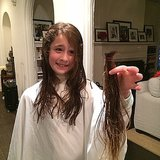 Poet Goldberg showed off the hair she grew out and cut for charity. Source: Instagram user moonfrye