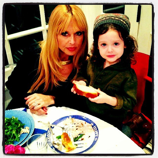 Skyler Berman celebrated Hanukkah with his favorite things — challah, presents, and his mom. Source: Instagram user rachelzoe