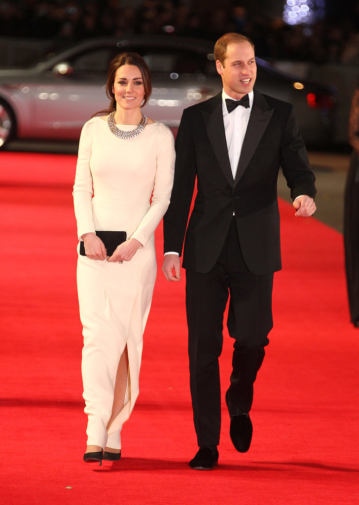 Kate Middleton and Prince William attended the premiere of a new film about Nelson Mandela's life, Mandela: Long Walk to Freedom, in London.