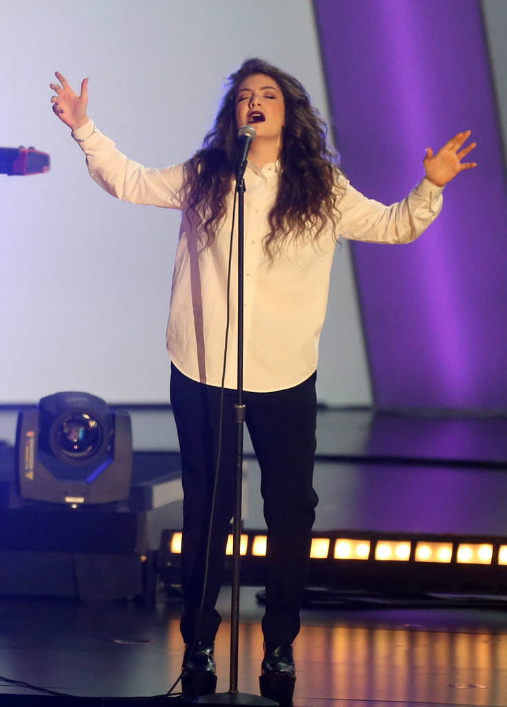 Lorde took the stage.