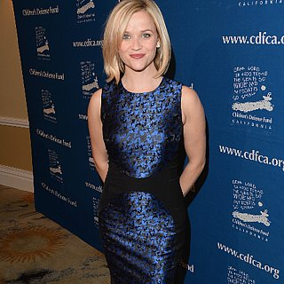 Reese Witherspoon in Blue Michael Kors Dress