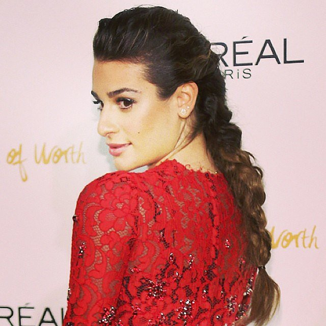 Popular on both Instagram and Twitter, Lea Michele's French braid was one of your favorite celebrity styles.
