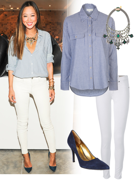 Aimee Song White Jeans Outfit | POPSUGAR Fashion