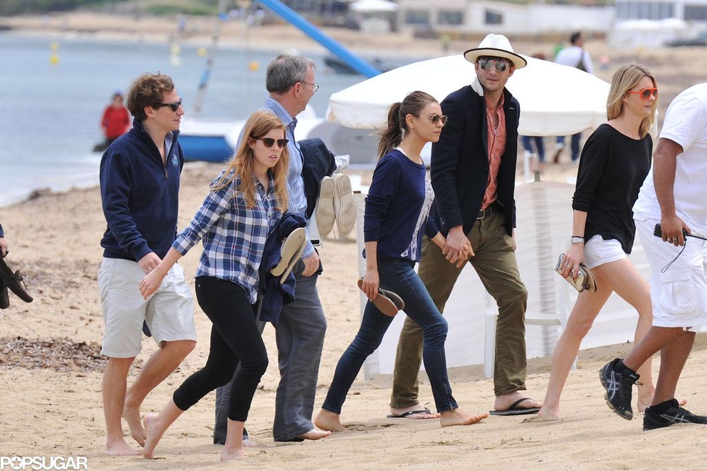Ashton and Mila Join Princess Beatrice's Yacht Vacation