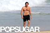 Bradley Cooper's shirtless body was on display during a Rio beach day in May.