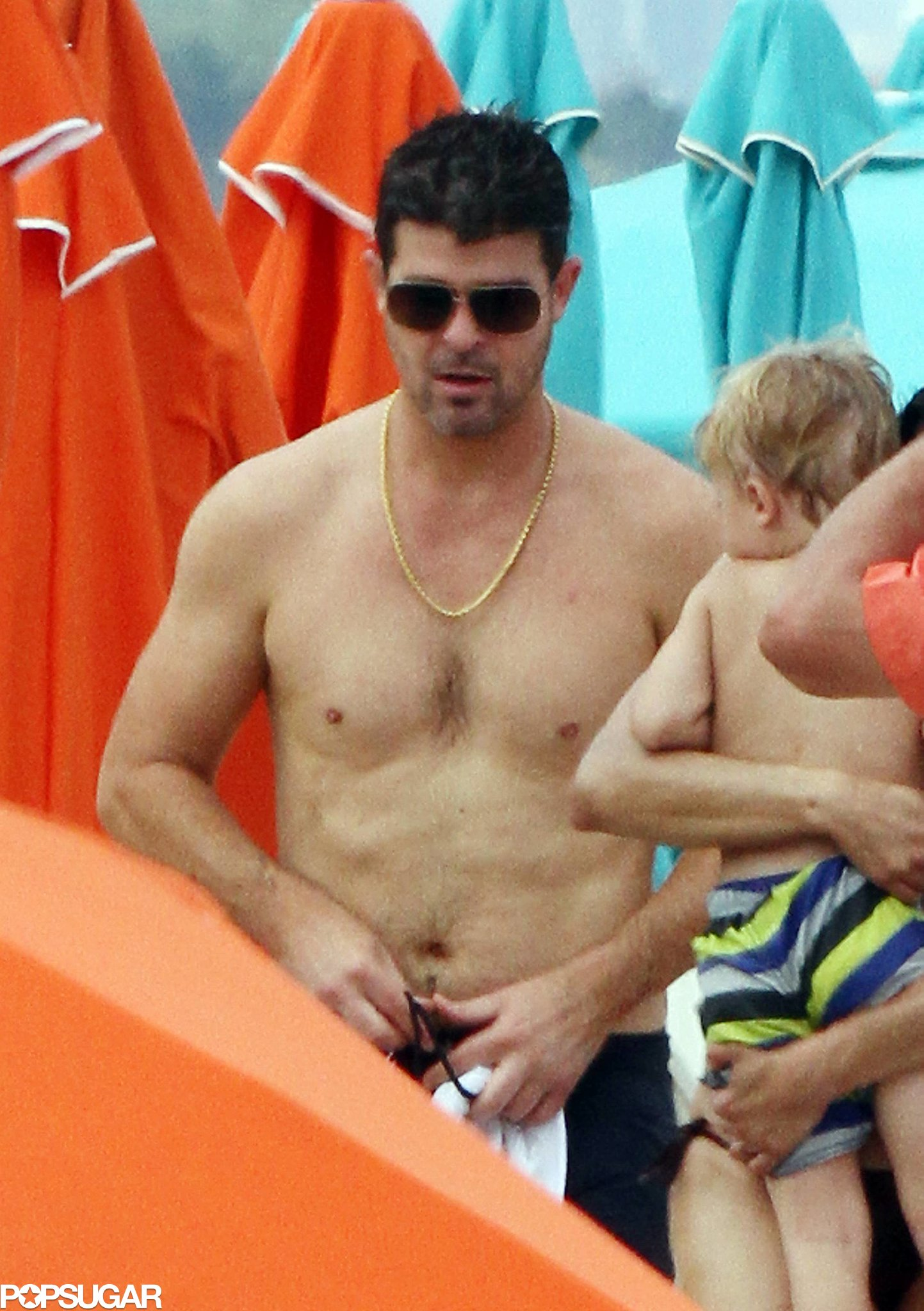 robin thicke stripped off his shirt in florida in august the 35