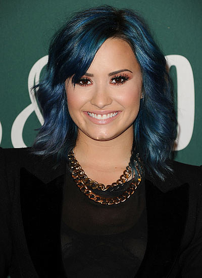 Demi Lovato: Brunette to Blue