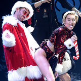 Miley Cyrus, Selena Gomez, Robin Thicke At 2013 Jingle Ball