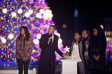 The first family took the stage for the national Christmas tree lighting.
