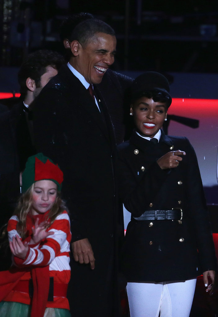 Mariah Joins the Obamas For a Picture-Perfect Tree Lighting
