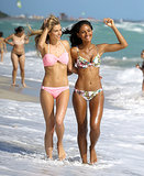Jessica Hart and Gracie Carvalho showed off their model-worthy bikini bodies on Friday.