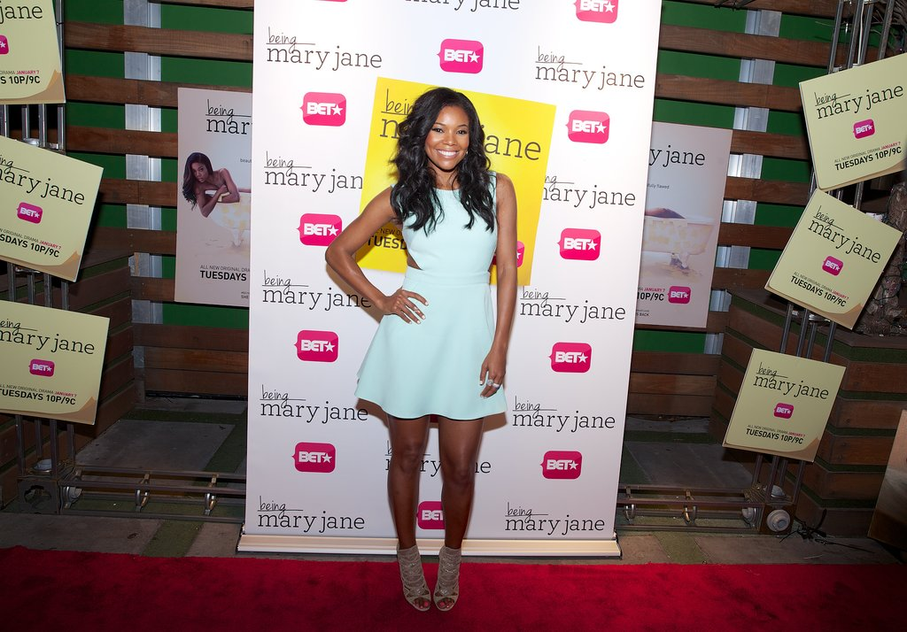 Gabrielle Union attended an event for her BET show, Being Mary Jane, at Mokai lounge on Wednesday, wearing Rachel Zoe Collection.