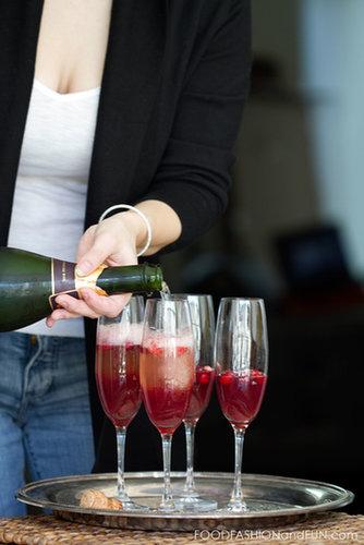 Bottoms Up | Sparkling Cranberry Vodka Martini