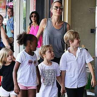 Angelina Jolie With Kids In Sydney, Australia