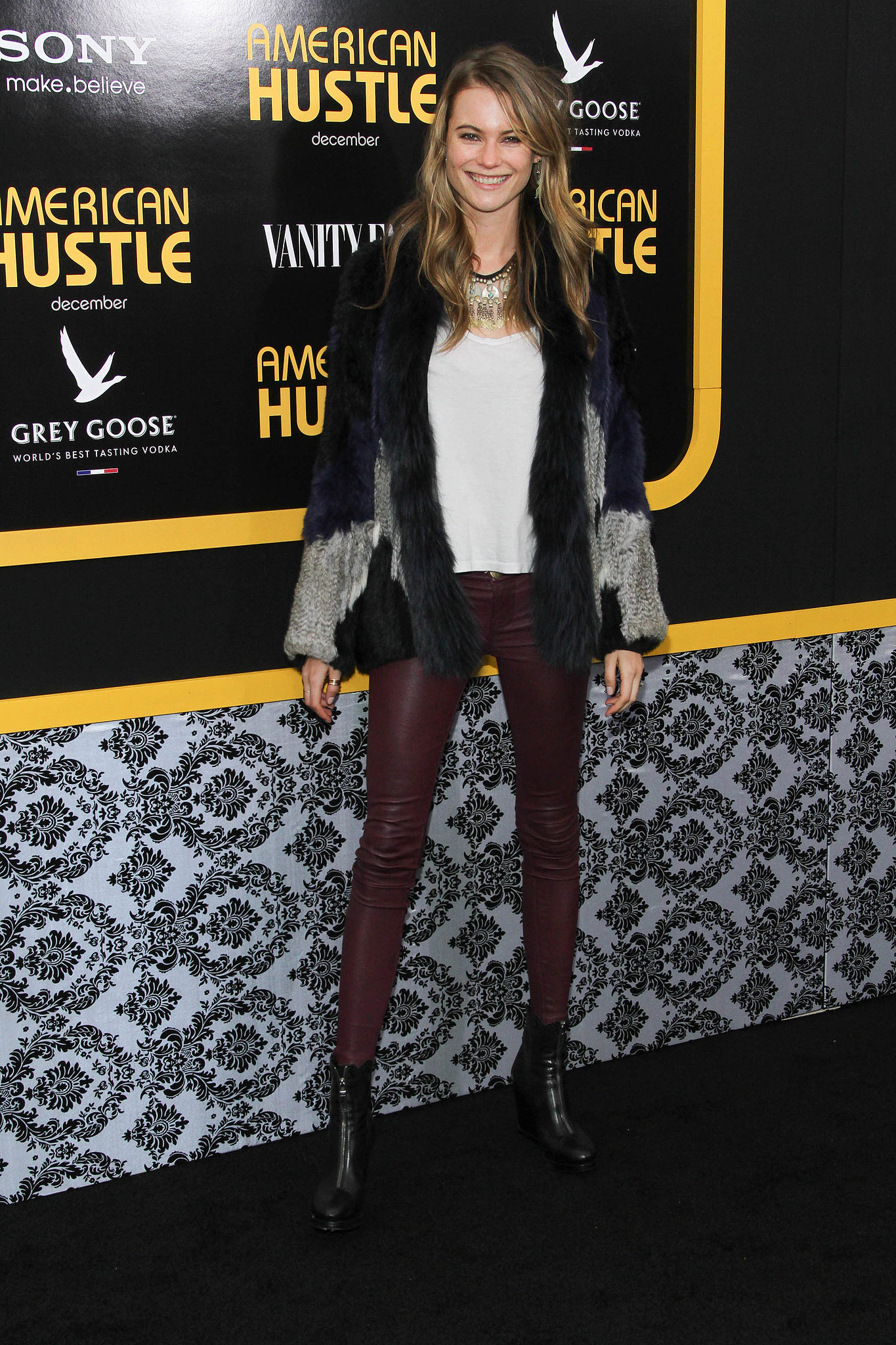 Behati Prinsloo at the American Hustle premiere.