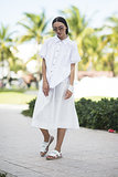 Minimalist sleek in all white.  Source: Le 21ème | Adam Katz Sinding