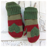 Whimsie Dots Felted Wool Mittens ($25)