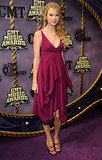 Pushing the envelope with a plunging neckline at the 2008 CMT Awards.