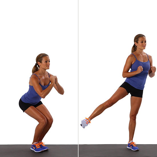 Squat With Side Leg Lift