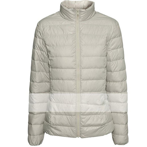 Discount Slim lightweight high-quality jacket collar front zipper pockets elastic cuffs parcels in women down parkas on sightfac