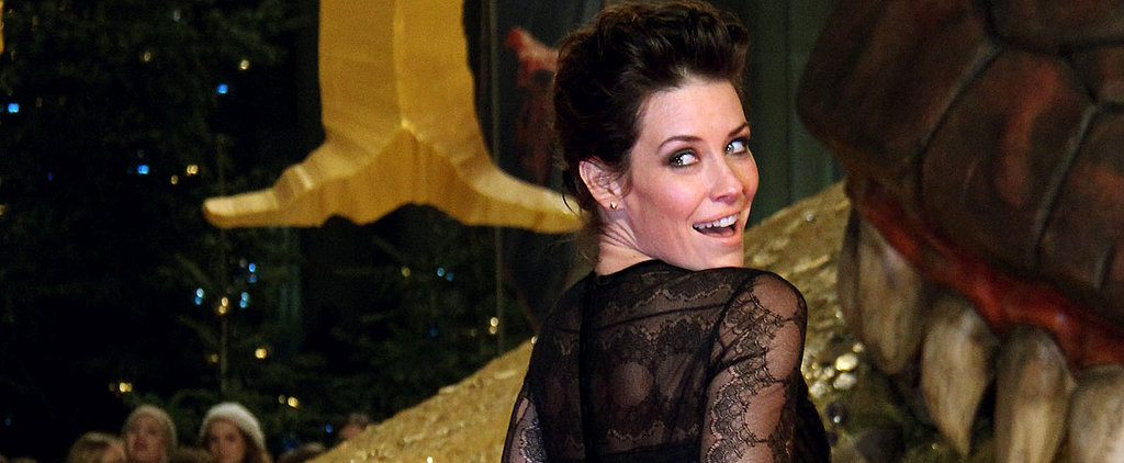 Evangeline Lilly Wears Alberta Ferretti to Slay a Dragon?