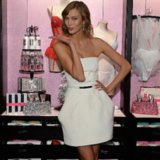 Karlie Kloss White Strapless Dress