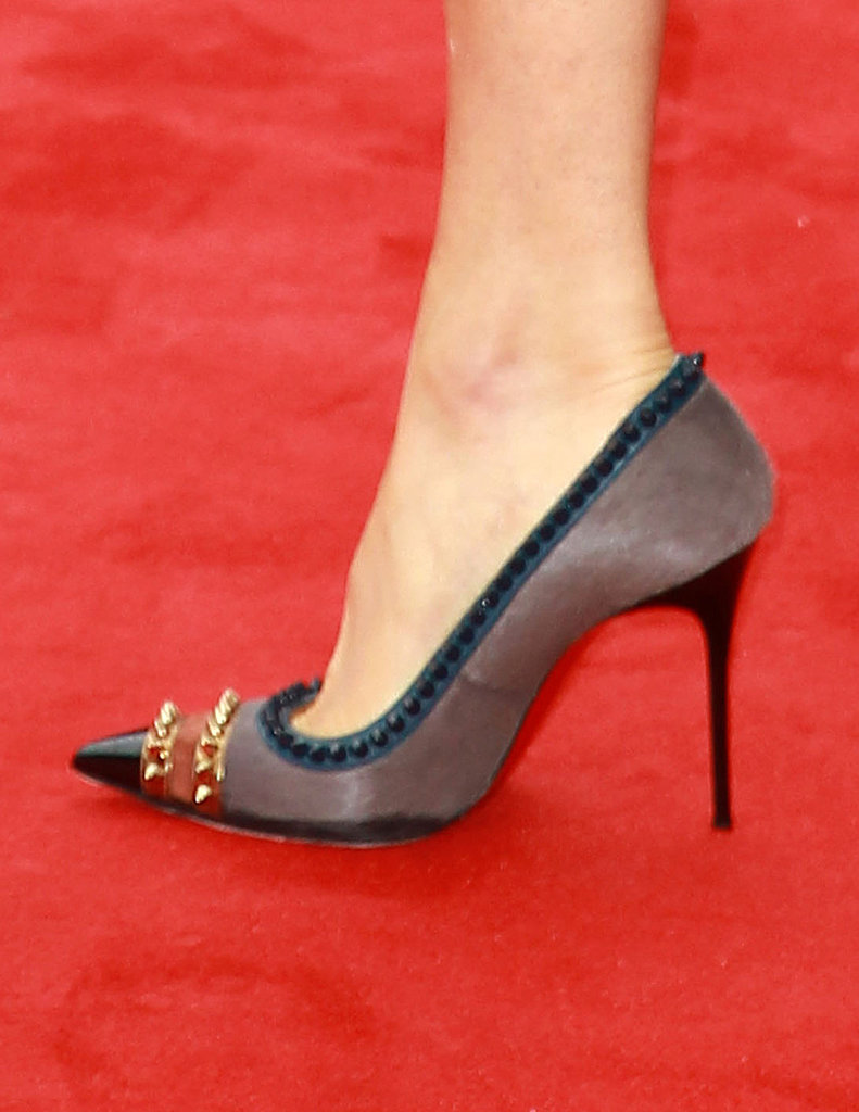 Sienna Miller attended a British TV awards ceremony in spiked pumps.