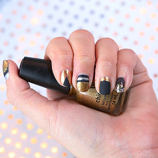 DIY Metallic Holiday Nail Art  | Tutorial