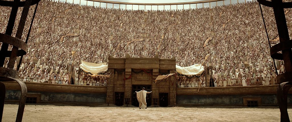 The gladiator stadium is quite intimidating, unless your name is Hercules.