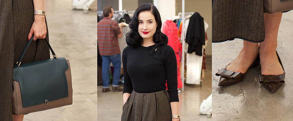 This Is How Dita Von Teese Hits the Flea Market