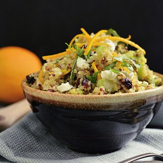Quinoa Salad With Cranberries, Oranges, and Goat Cheese
