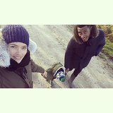 Doutzen Kroes and Sunnery James took a chilly stroll with little Phyllon this week. Source: Instagram user doutzen