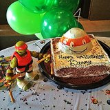 Ben Brady celebrated his birthday with a totally rad Teenage Mutant Ninja Turtles cake. Source: Instagram user giseleofficial