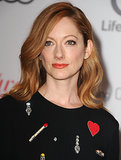Judy Greer stayed ahead of the curve by wearing Spring's It lipstick shade: orange.