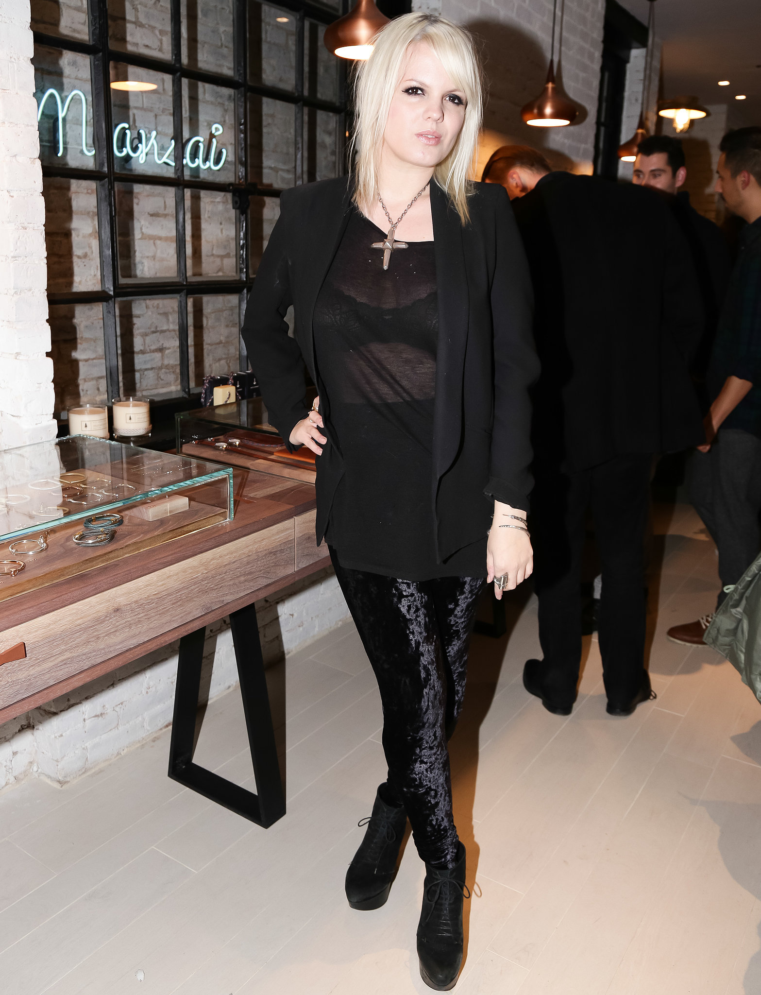 Becka Diamond at the opening of the Miansai store in New York.