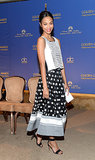 Zoe Saldana wore Sachin + Babi to a party for the Golden Globe nominations in Beverly Hills.