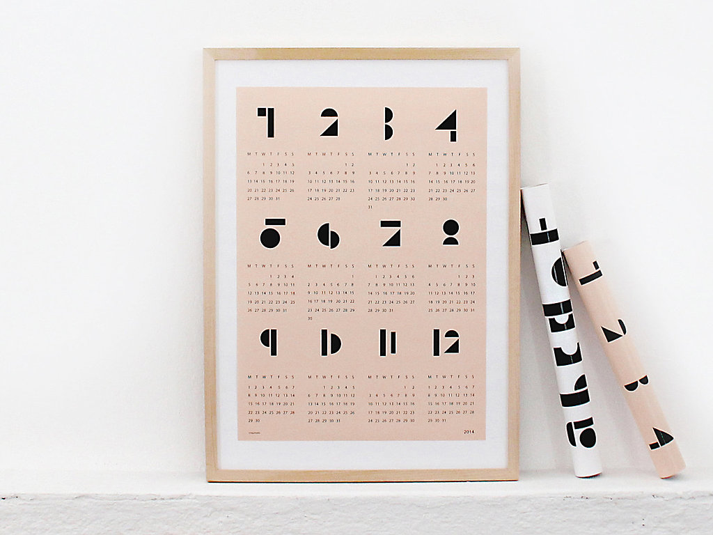 Finally, a calendar worth framing! We can't get enough of the graphic detail in this simplistic print ($21).