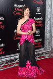 Juliette Lewis wore a sheer frock.