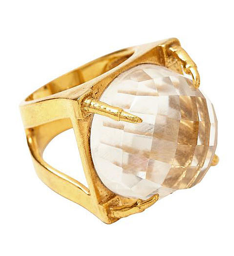 BCBG Max Azria push BY PUSHMATAaHA Square Claw Ring  ($135)