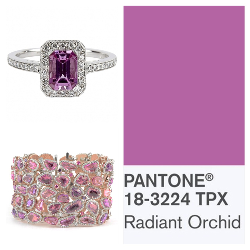 Pantone Color of the Year Radiant Orchid 18-3224 TPX Pink Sapphire