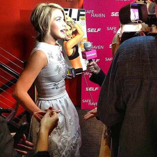 Julianne Hough stopped to talk to us at the premiere of Safe Haven back in February.
