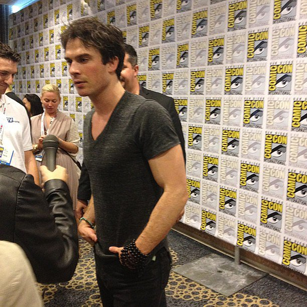 Ian Somerhalder looked casual — and handsome as ever — at Comic-Con.